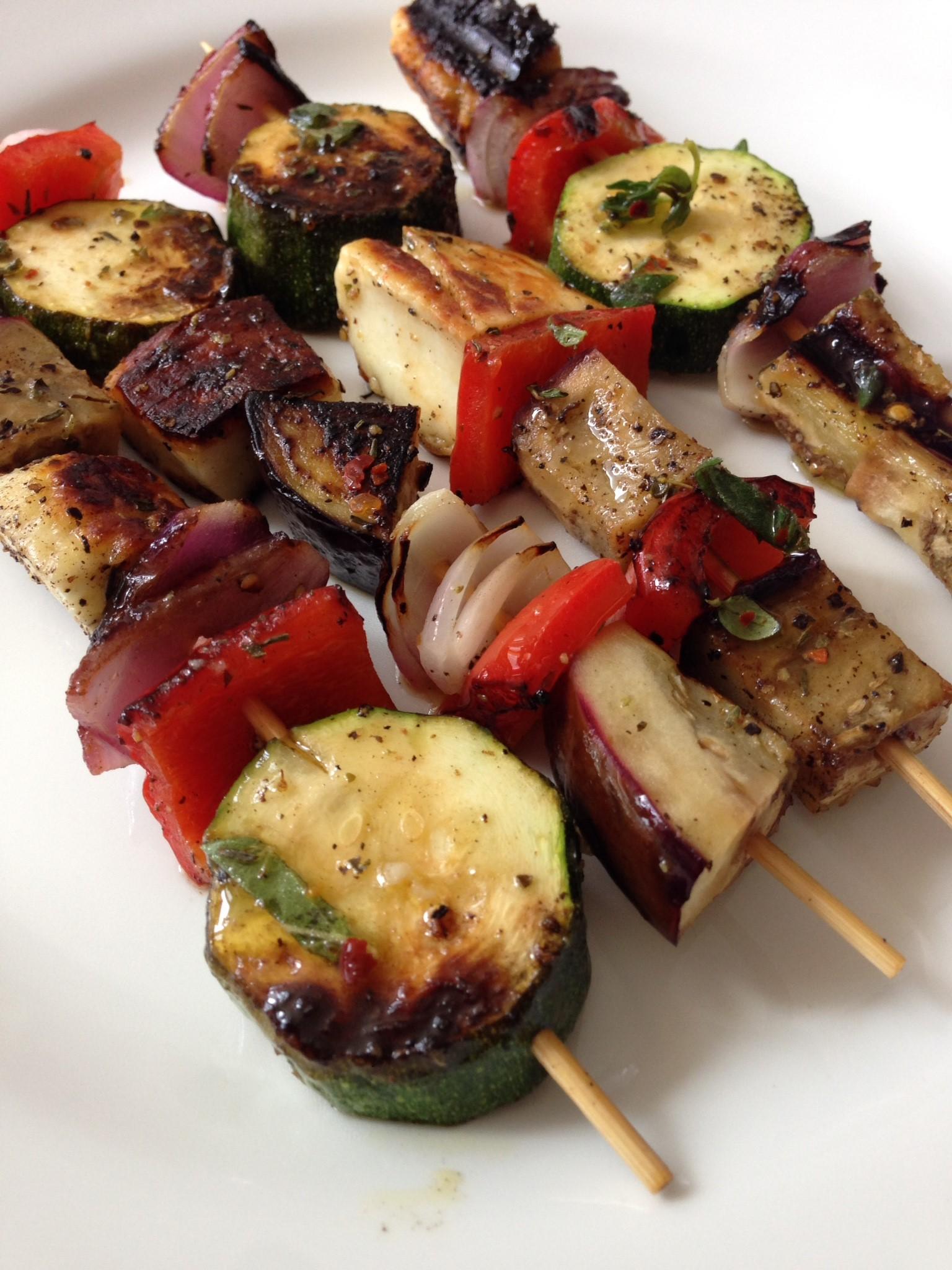 vegetable souvlaki - Greekalicious