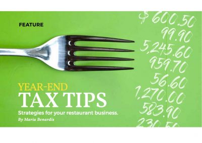 Estiator Magazine – Year-end Tax Tips