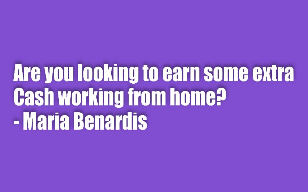 Are you looking to earn some extra cash working from home?