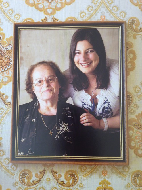 Maria Benardis and her aunt Stavroula